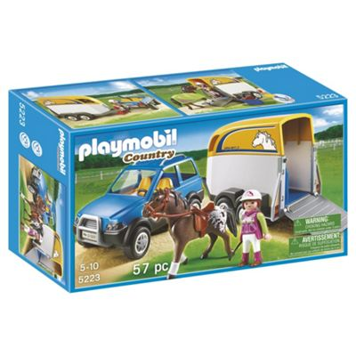 Playmobil 5223 Country Pony Farm SUV Car with Horse Trailer