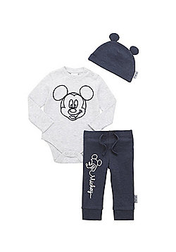 Disney Mickey Mouse 3 Piece Set - Grey & Blue