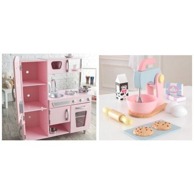 Kidkraft Vintage Pink Kitchen With Baking Set