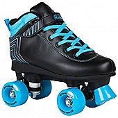 Rookie Starlight Kids Quad Roller Skates - Black/Blue - Black