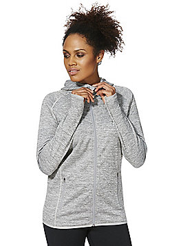 F&F Active Marl Zip-Through Hoodie - Grey