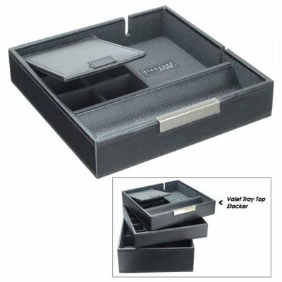 Dulwich Designs Valet Tray Black Premium Top Stacker Jewellery Box
