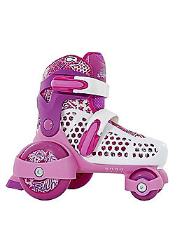 SFR Stomper Boys/Girls/Junior Adjustable Quad Starter Roller Skates - Pink