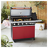 MasterChef 6 Burner Gas BBQ with Side Burner - With Cover