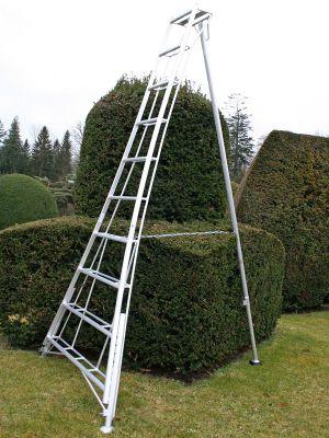 Ladders-Online Trade 3.6m (11.8ft) Adjustable - Garden Hedge Cutting Tripod Ladder