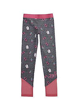Nickelodeon JoJo Siwa Mesh Insert Unicorn Print Leggings - Grey & Pink