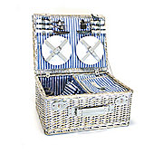Yellowstone 4 Person Wicker Picnic Basket with Cooler