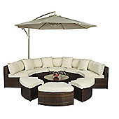 Monaco Large Rattan Semi Circle Sofa Set