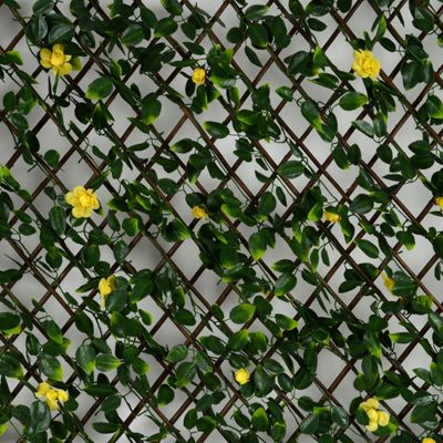 Expanding Artificial Hedge With Yellow Flowers (1m x 2m)