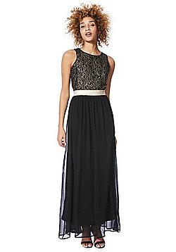 Solo Lace Bodice Maxi Dress - Black