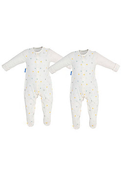 Gro-Suit/Socksuit Babygrow TWIN Pack (Twinkle Twinkle, 12-18 Months) - White multi