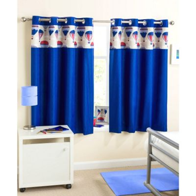 Enhanced Living Horizon Eyelet Blue Curtains - 66x90 Inches (168x229cm)