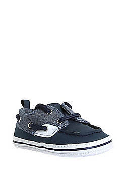 F&F Chambray Boat Shoes - Blue