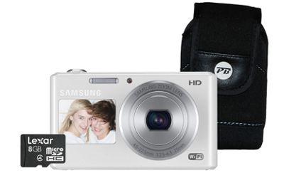Samsung DV151 Digital Camera, White, 16.2MP, 5x Optical Zoom, 2.7