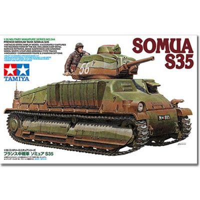 Tamiya 35344 Somua S35 Tank 1:35 Military Model Kit