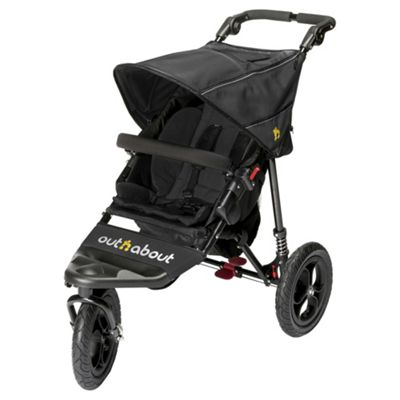Out n About Nipper Single Pushchair V4, Raven Black