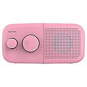 Goodmans Pebble DAB/DAB+/FM Radio, Pink