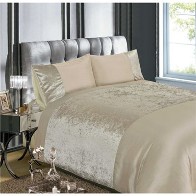 Rapport Velvet Natural Duvet Cover Set - Single
