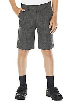 F&F School 2 Pack of Boys Shorts - Grey