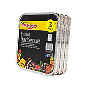 Bar-Be-Quick 3pk Instant Disposable Charcoal Barbecue