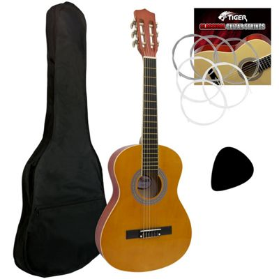 Tiger 1/2 Size Classical Guitar Beginners Complete Starter Kit