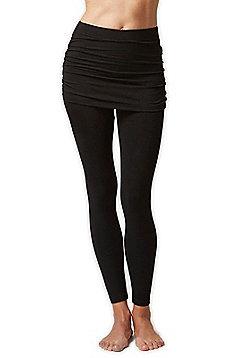 Women's Lightweight Skirt Leggings - Black