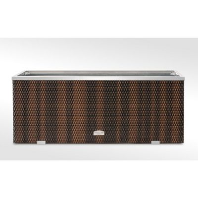 Brackenstyle Exclusive Rattan Rectangle Planter - Brown