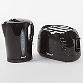 Igenix IGPK02 Breakfast Set Kettle and 2 Slice Toaster - Black