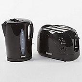 Igenix IGPK02 Breakfast Set Kettle and 2 Slice Toaster - Black