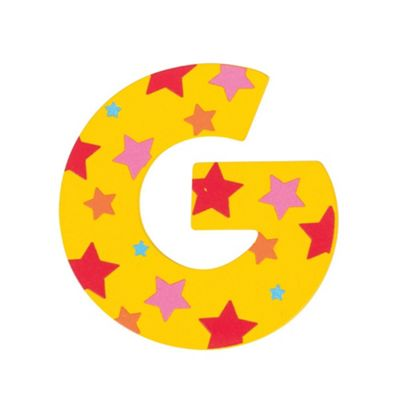 Bigjigs Toys Star Letter G (Yellow)