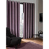 Logan Eyelet Thermal Blackout Curtains, Aubergine 117x183cm