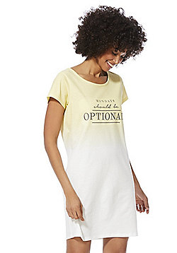 F&F Mondays Should Be Optional Ombre Nightie - Yellow