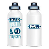 Father's Day Personalised Aluminium Water Bottle - Amazing Dad