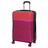 IT Luggage TwoTone 8-Wheel Hard Shell Persion Red and Grenadine Medium Suitcase