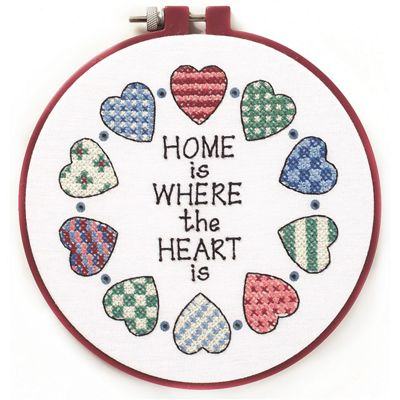 Dimensions Home & Heart Learn-a-Craft Cross Stitch Kit