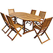 Charles Bentley Hardwood 6 Seater Set With Extendable Table