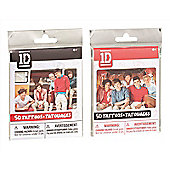 One Direction 1d 50 Tattoos Bundle Black And Red 2 Packs Supplied