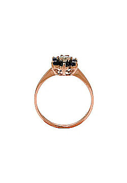QP Jewellers Sapphire & SI-2 Diamond Ontario Wildflower Ring in 14K Rose Gold
