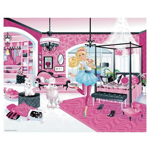 Barbie Wallpaper Mural 8ft x 10ft