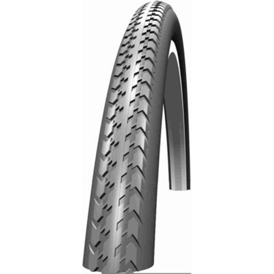 Schwalbe HS127 Wheelchair Tyre: 24 x 1.3/8 Grey Wired. HS 127, 37-540, Active Line, Kevlar Guard