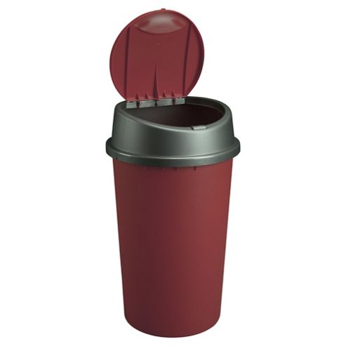 25L Touch Top Bin Red