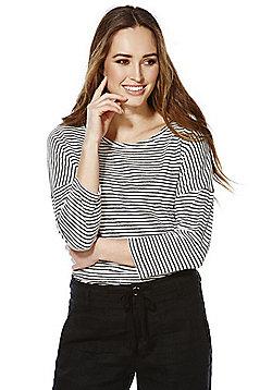 F&F Linen Blend Striped Top - Multi