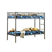Comfy Living Children's ECO Metal Bunk Bed 3ft Single in Silver