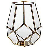 Gold Pentagonal Tea Light Holder