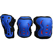 SFR Essentials Triple Pad Set - Blue / Black / Red - Large (age 9-12)