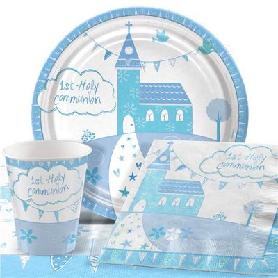 Communion Church Blue Party Pack - Value Pack For 8