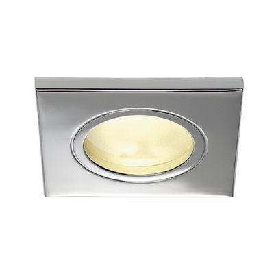 Dolix Square Downlight Chrome Max. 35W Aluminium Recessed Ring