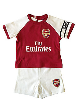 Arsenal FC Baby T-Shirt & Shorts - Red & White