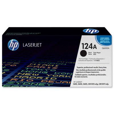 HP 124 A Print Cartridge for LaserJet 2600 Printer -Black