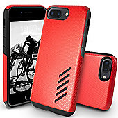 Orzly iPhone 7 Plus, iPhone 8 Plus Grip-Pro Case - Red
